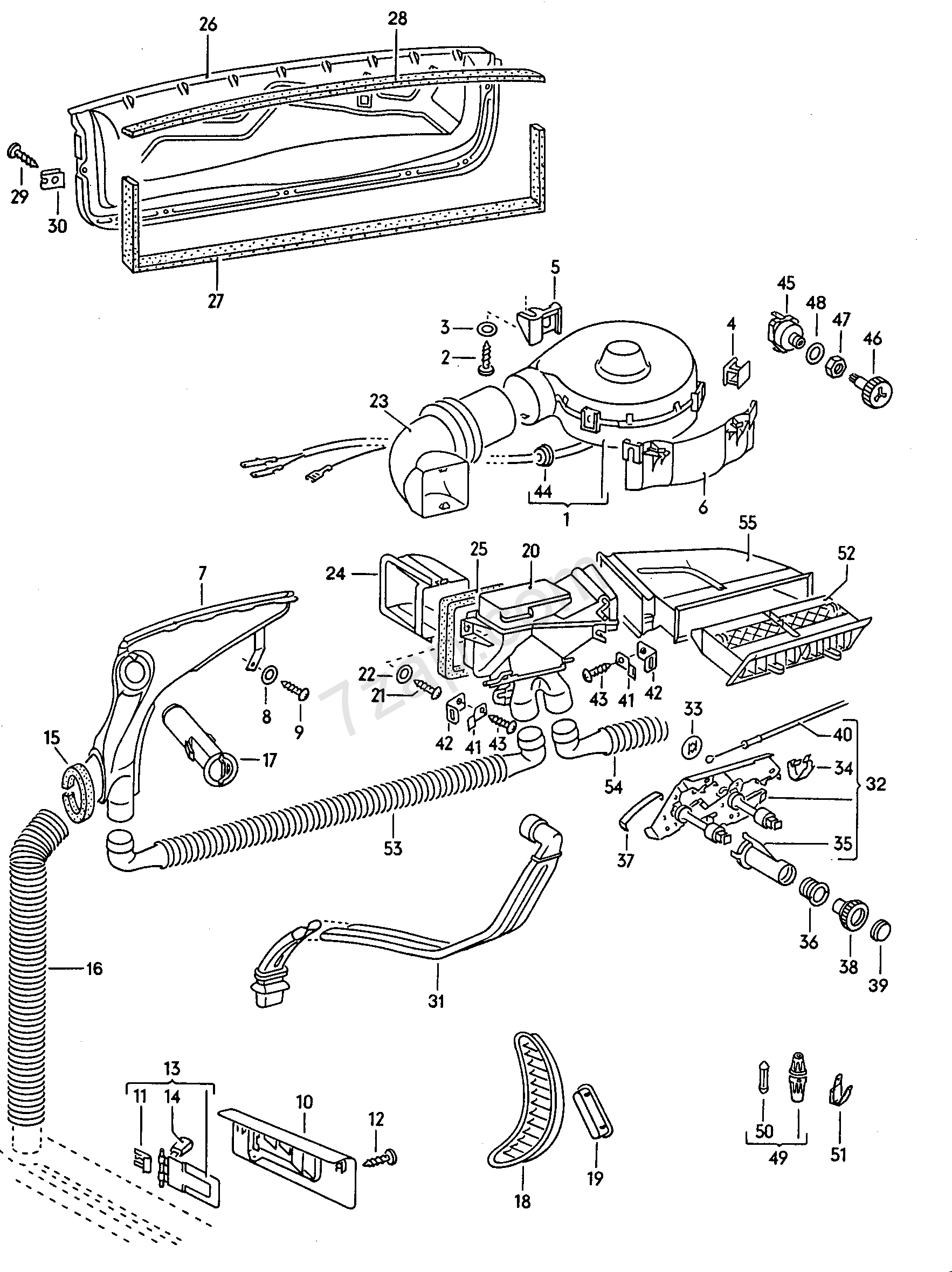 Heater And Fresh Air Flap Cables Contr Vw 1200 1300 1978 Engine Diagram 1302 13031200 Usa Year