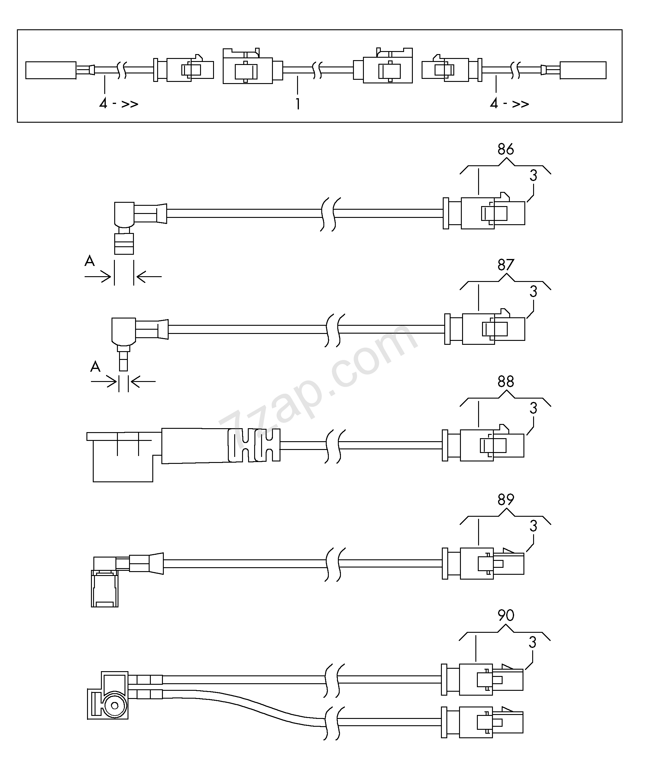 adapter aerial wire; see illustration also:; see p... Elekt.Verbind ...