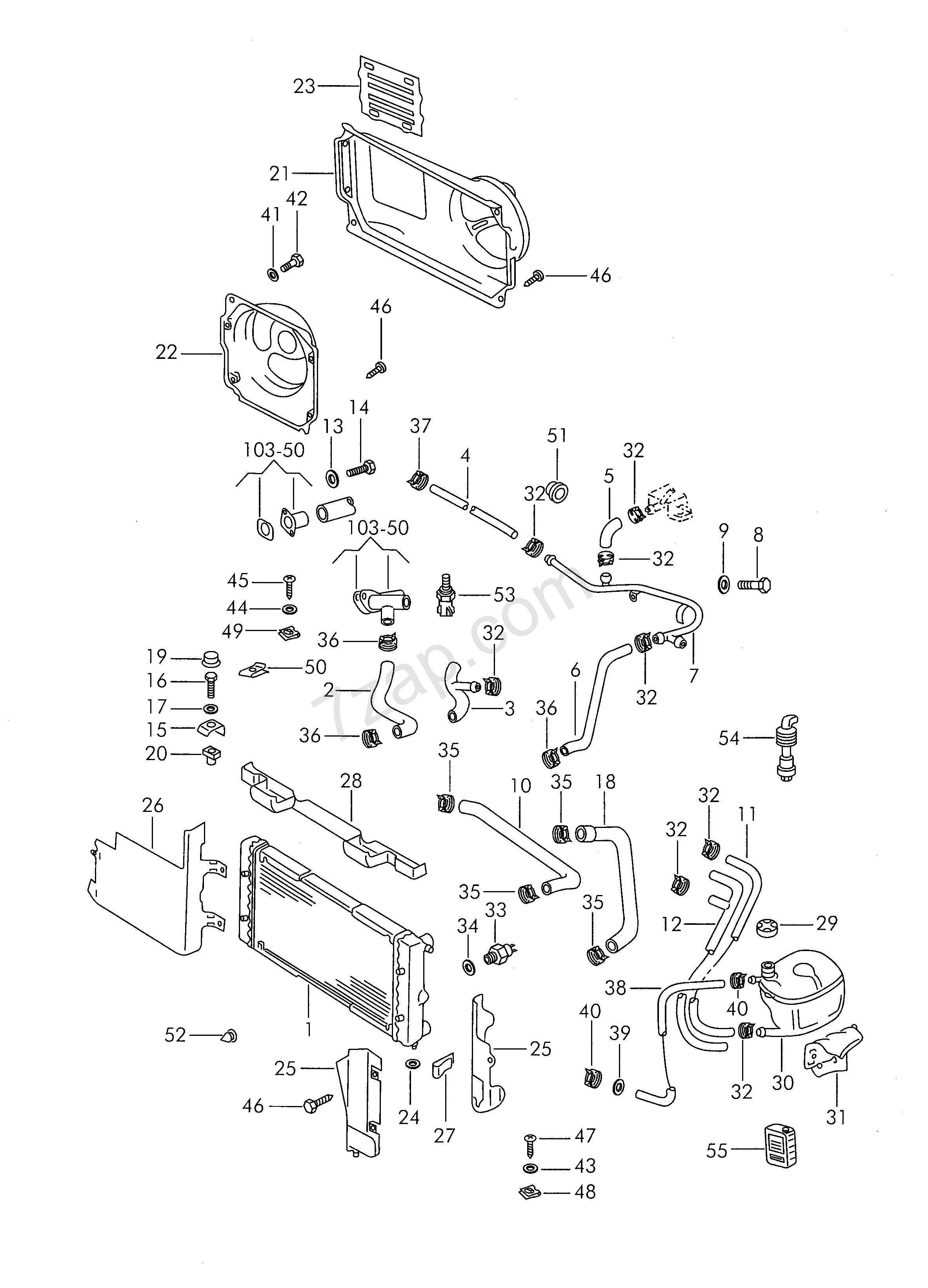 Vw Cooling System Diagram 1989 Electrical Wiring Diagrams 2002 Cabrio 2 0 Engine Coolant Santana San Year Volkswagen Brazil 121045 Jetta