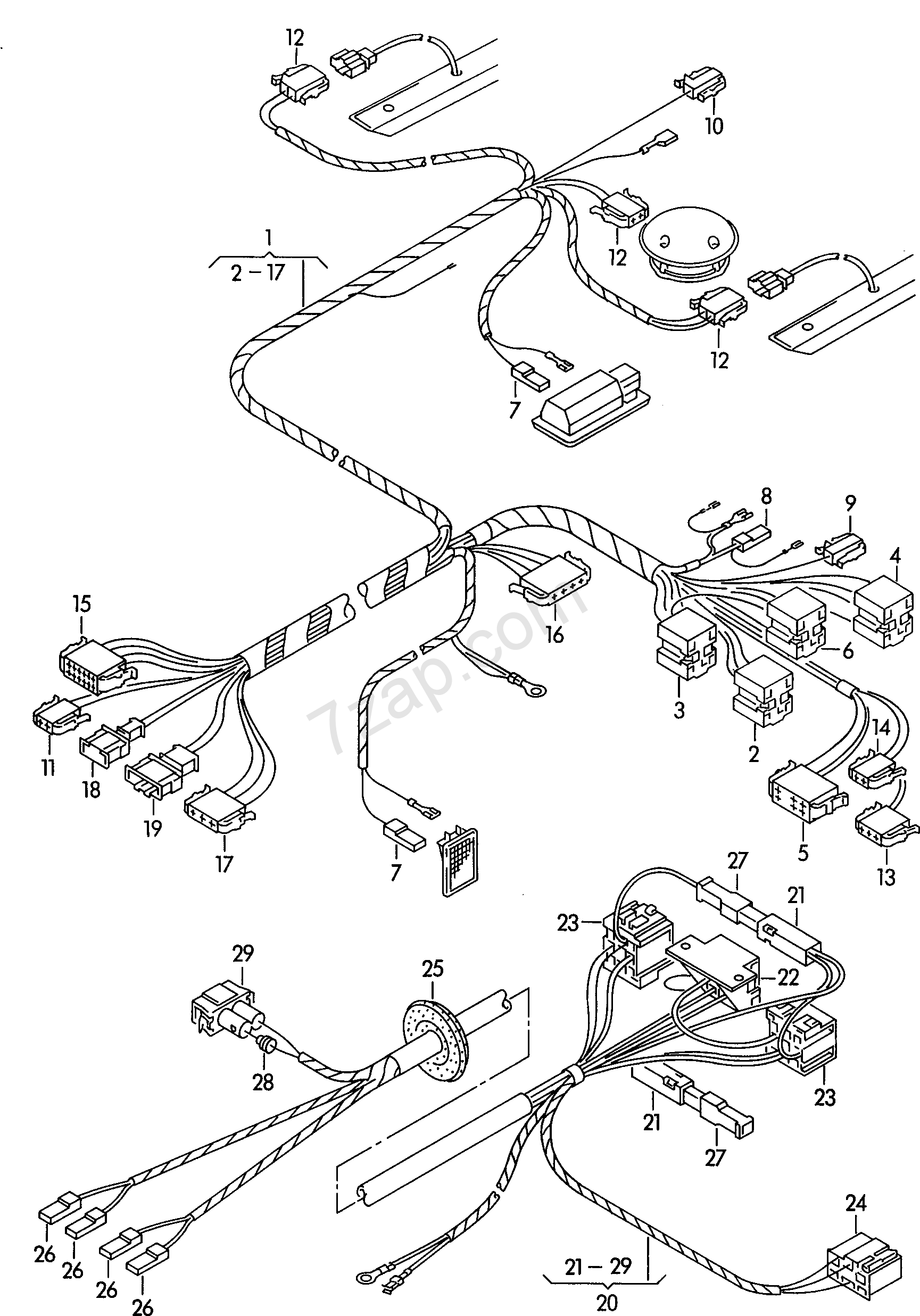 wiring harness for stretcher transporter  tr  2002 year