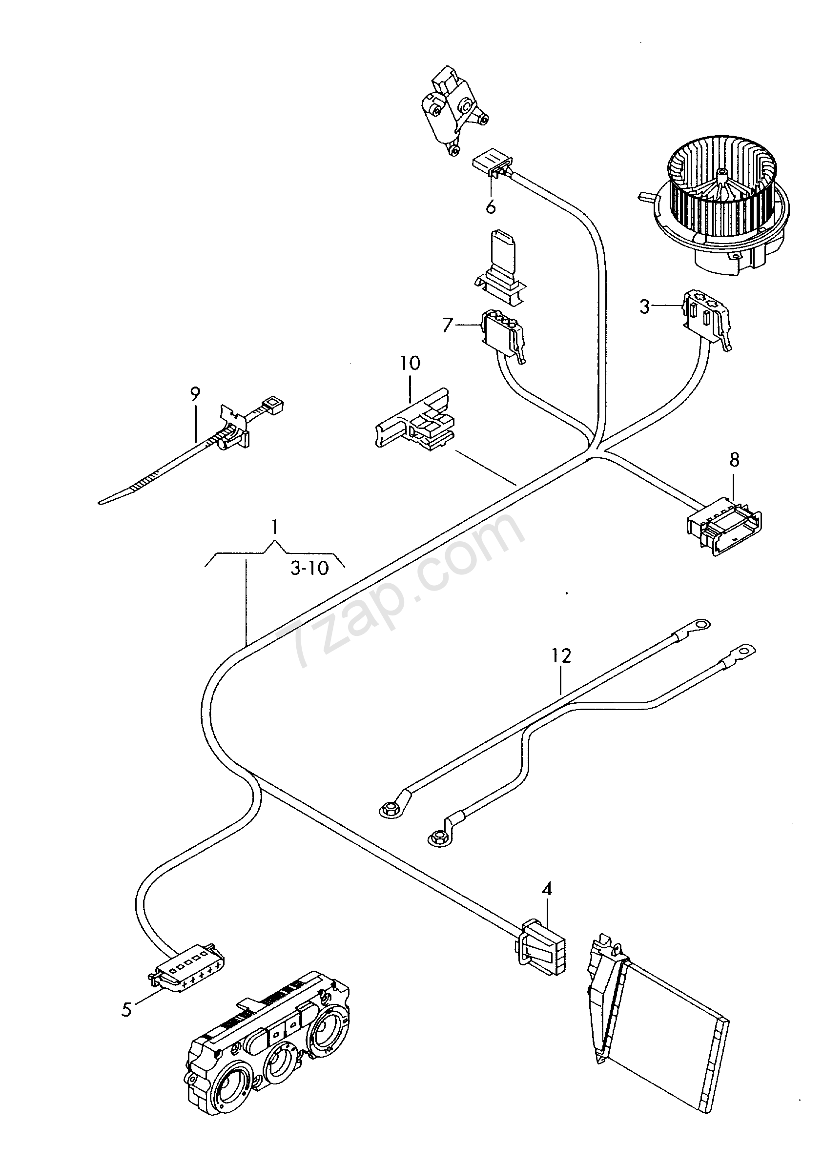 wiring harness for additional heater unit caddy  ca  2012