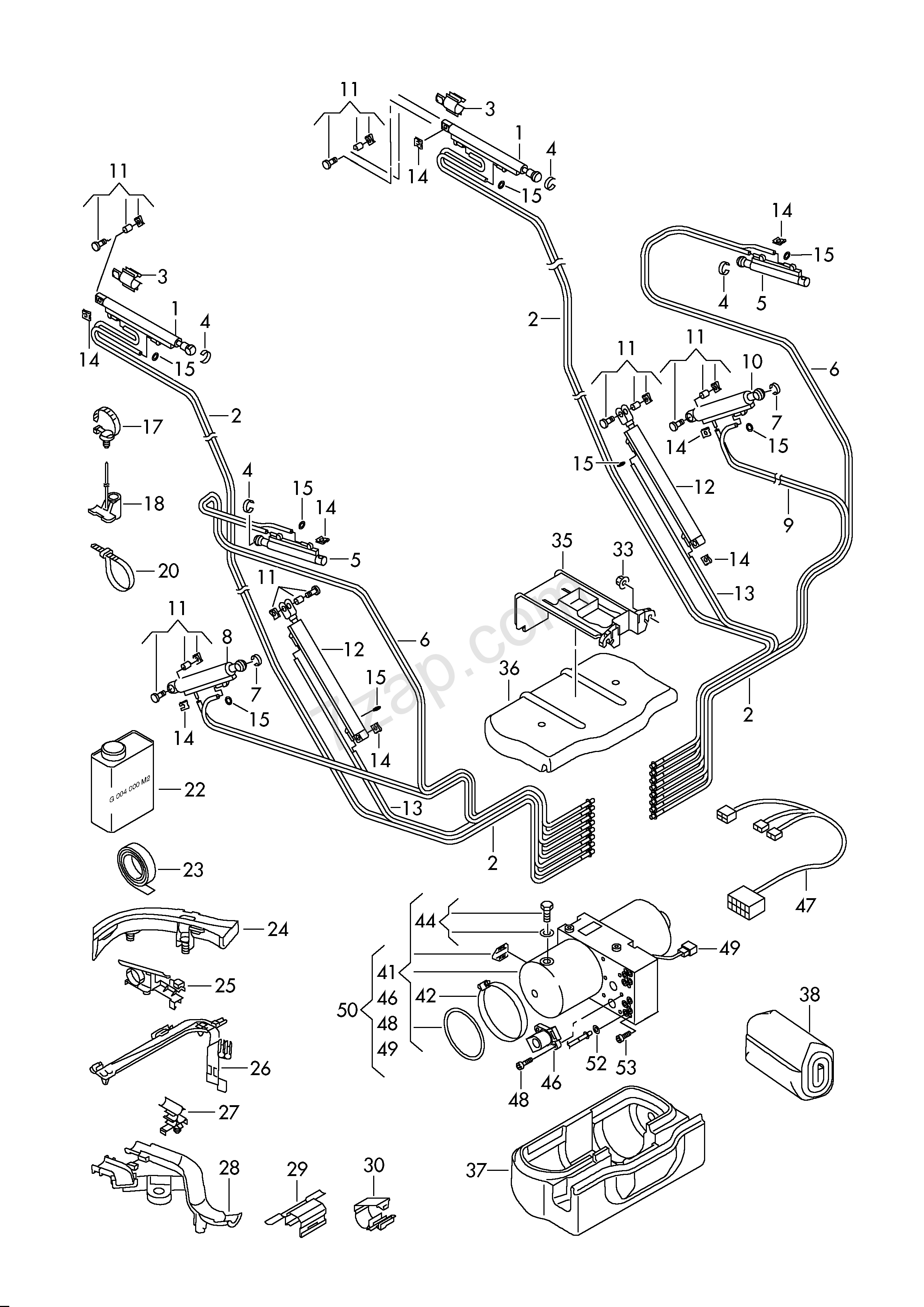hydraulic system for actuating convertible roof eos  eos  2016 year volkswagen europa 871060