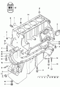 cylinder block<br/>oil sump
